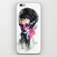 bride iPhone & iPod Skins featuring Bride by Saje Gary