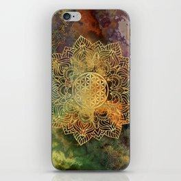 Flower Of Life Batik iPhone Skin