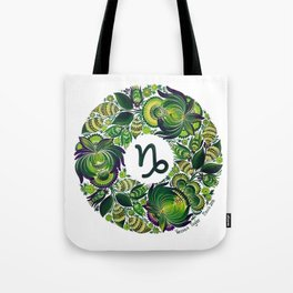 Capricorn in Petrykivka Style (with signature) Tote Bag