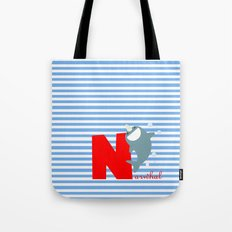n for narwhal Tote Bag