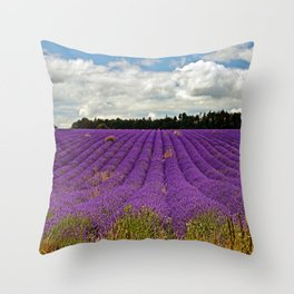 Lavender Landscape Throw Pillow