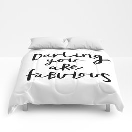 Darling You Are Fabulous black-white gift for girlfriend home wall decor bedroom Comforters