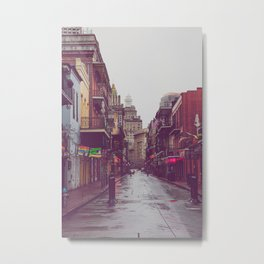 Early Morning on Bourbon Street x New Orleans Photography Metal Print
