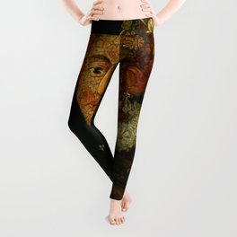"Follower of Giuseppe Arcimboldo ""Anthropomorphic allegory of spring"" Leggings"