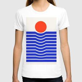 Going down-modern abstract T-shirt