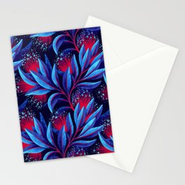 Pohutukawa - Red / Blue Stationery Cards