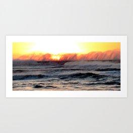 Sun Kissed Spindrift Art Print