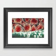 strawberry anemone Framed Art Print
