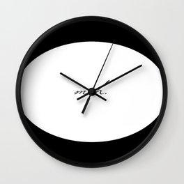 Circle Meh. Wall Clock