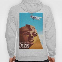 Cairo flight vintage travel poster Hoody