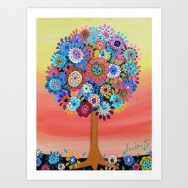 TREE OF LIFE BAR BAT MITZVAH PAINTING Art Print