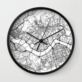 Seoul Map White Wall Clock