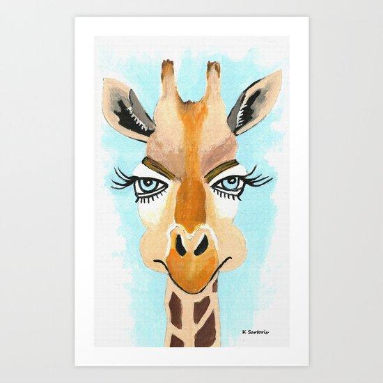 The Flirt Art Print