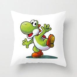 Yoshi - MARIO Throw Pillow
