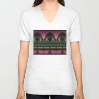 theatre V-neck T-shirts featuring Theatre of Fantasy Fractal by gabiw Art
