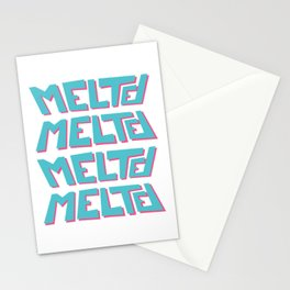 Melted, the solid typography. Stationery Cards