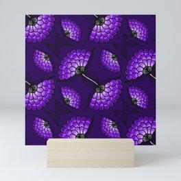 African Art Cloth in Purple Mini Art Print