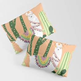 Cute Llama with Cactus Pillow Sham