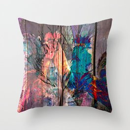 Two fighters Throw Pillow