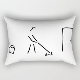cleaning lady building cleaner Rectangular Pillow