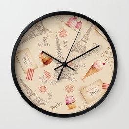 Love From Paris Wall Clock