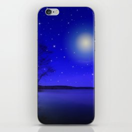 Moon and Stars Landscape iPhone Skin