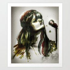 Bat for lashes Art Print