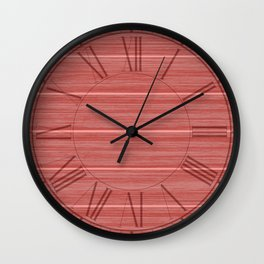 Pastel Red Whitewashed Beach House Cladding Wall Clock