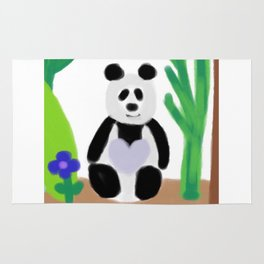 It's a Panda's World of Love Rug