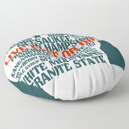 New Hampshire Live Free or Die Floor Pillow