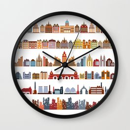 Variants of houses Wall Clock
