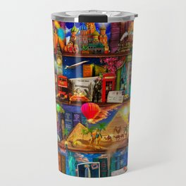 World Traveler Book Shelf Travel Mug