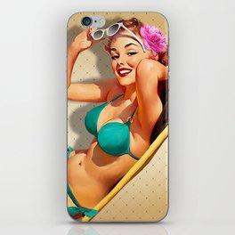 Beach PinUp 2 iPhone Skin