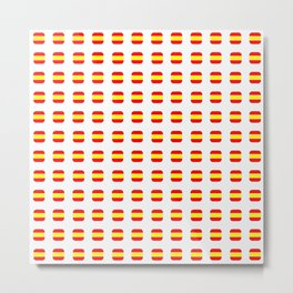 Flag of spain 16 - with soft square Metal Print