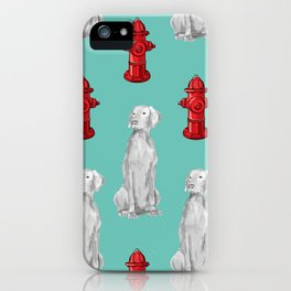 HYDRANTS AND WEIMARANERS iPhone Case