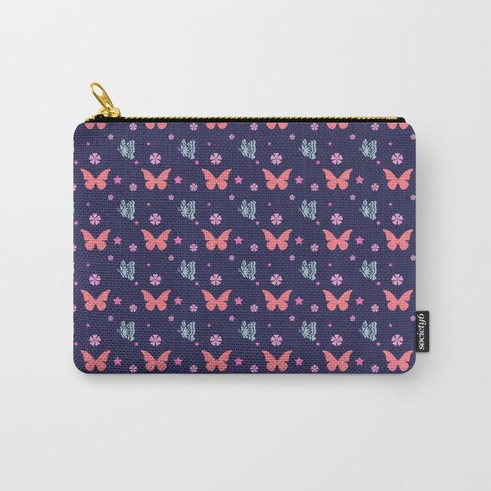lavanda butterflies Carry-All Pouch