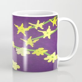 Yellow Flowers On Purple Coffee Mug
