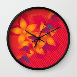 Radioactive butterflies Wall Clock