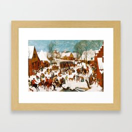 Massacre of the Innocents by Pieter Bruegel the Elder Framed Art Print