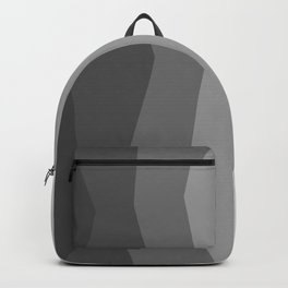 Cool Geometric Charcoal to Light Grey Ombre Backpack
