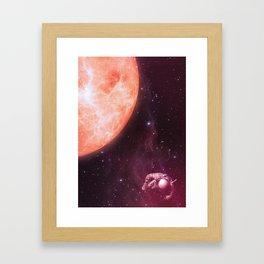 Drifting Astronaut  Framed Art Print