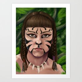War paint Art Print