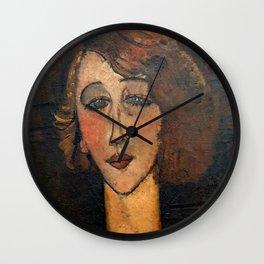 "Amedeo Modigliani ""Renée (The Blonde)"" Wall Clock"
