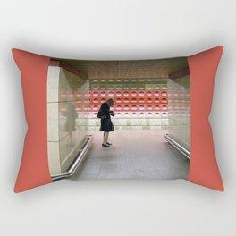 Taking Notes on the Subway Rectangular Pillow