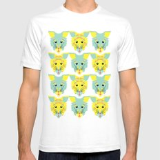 Litter of Kittens White Mens Fitted Tee SMALL