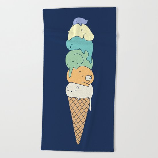 Melting 2 Beach Towel