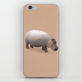 Geometric Hippo - Modern Animal Art iPhone Skin