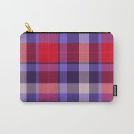 Plaid Pattern Print Carry-All Pouch