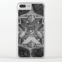 Denton, Texas Courthouse From Above Clear iPhone Case