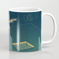 pool Mugs featuring Pool by Maxime Chillemi